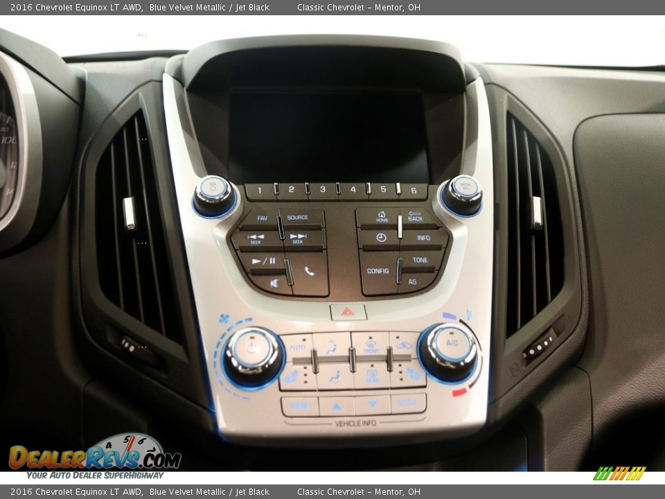 2016 Chevrolet Equinox LT AWD Blue Velvet Metallic / Jet Black Photo #7