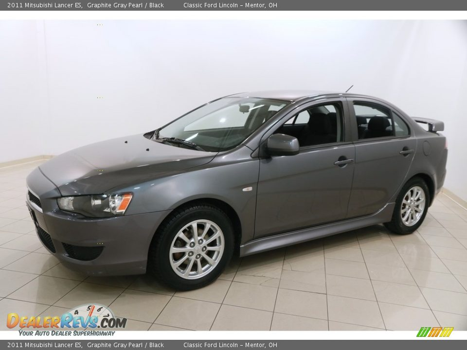2011 Mitsubishi Lancer ES Graphite Gray Pearl / Black Photo #3
