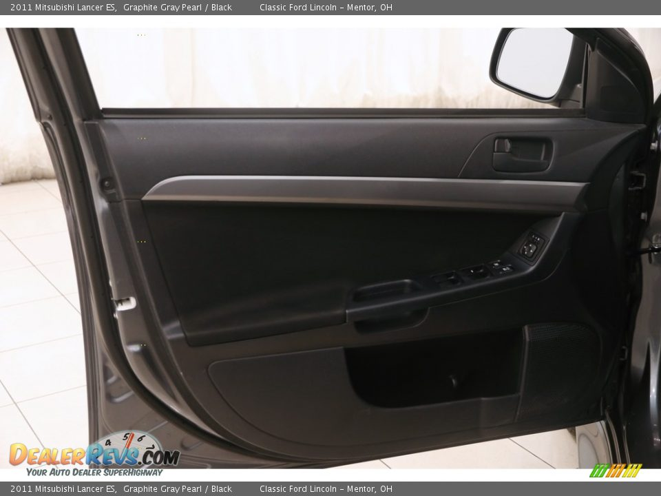 2011 Mitsubishi Lancer ES Graphite Gray Pearl / Black Photo #4