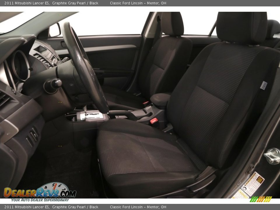 2011 Mitsubishi Lancer ES Graphite Gray Pearl / Black Photo #5