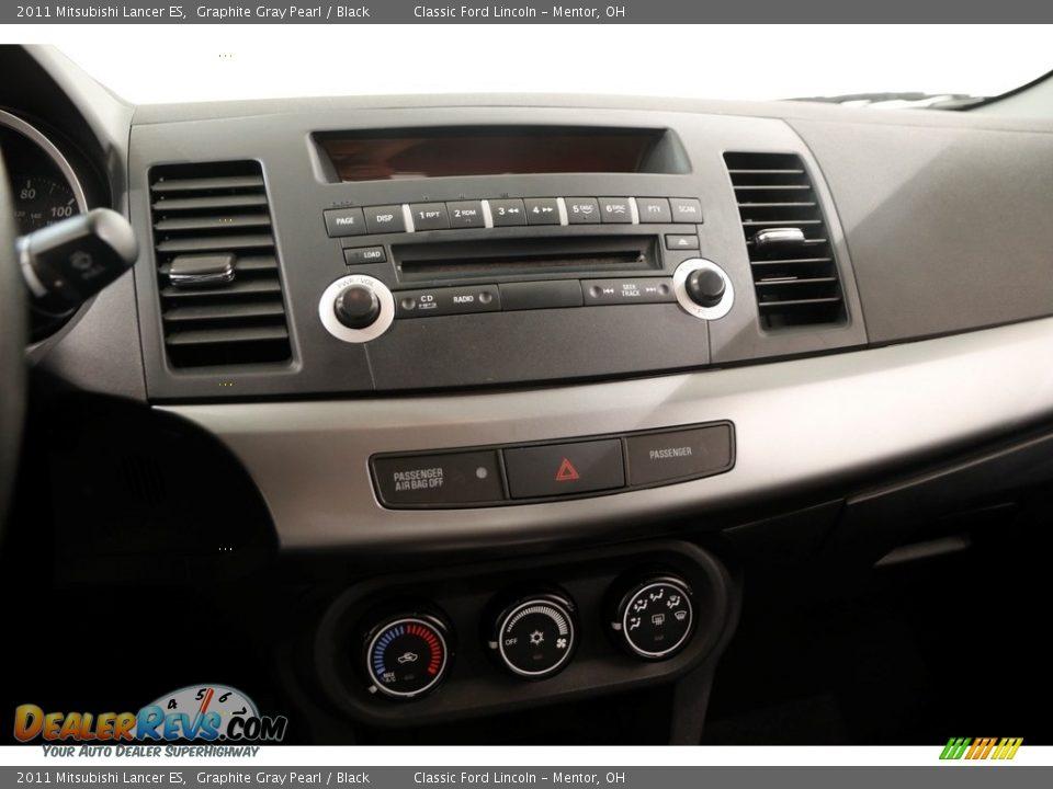 2011 Mitsubishi Lancer ES Graphite Gray Pearl / Black Photo #9