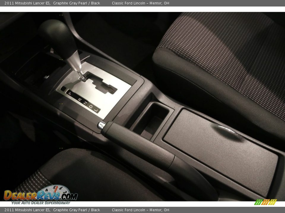 2011 Mitsubishi Lancer ES Graphite Gray Pearl / Black Photo #11