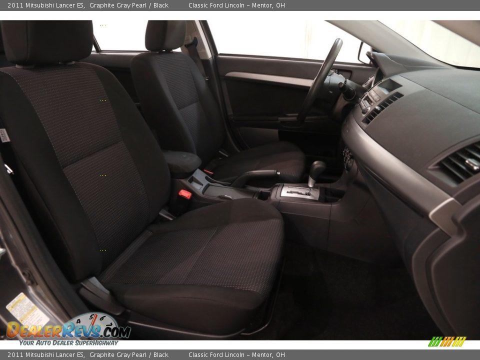 2011 Mitsubishi Lancer ES Graphite Gray Pearl / Black Photo #13