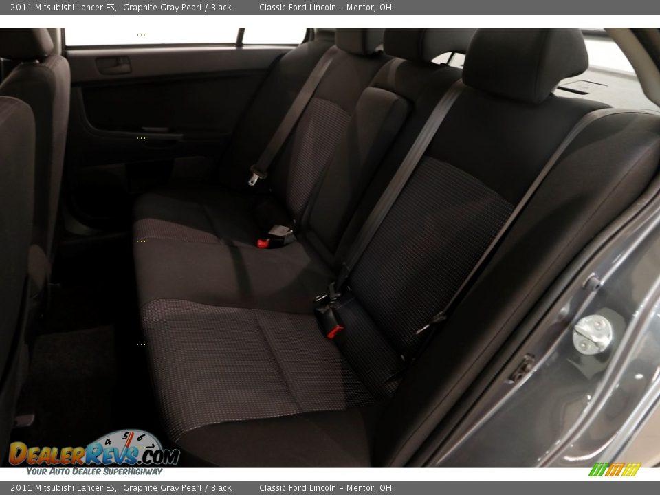 2011 Mitsubishi Lancer ES Graphite Gray Pearl / Black Photo #15