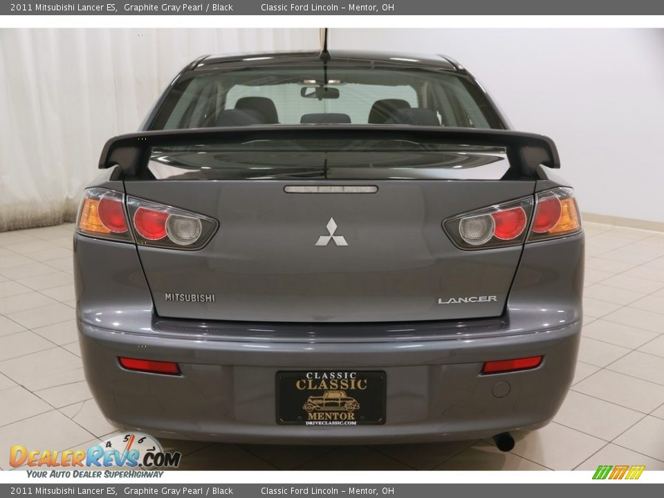 2011 Mitsubishi Lancer ES Graphite Gray Pearl / Black Photo #16