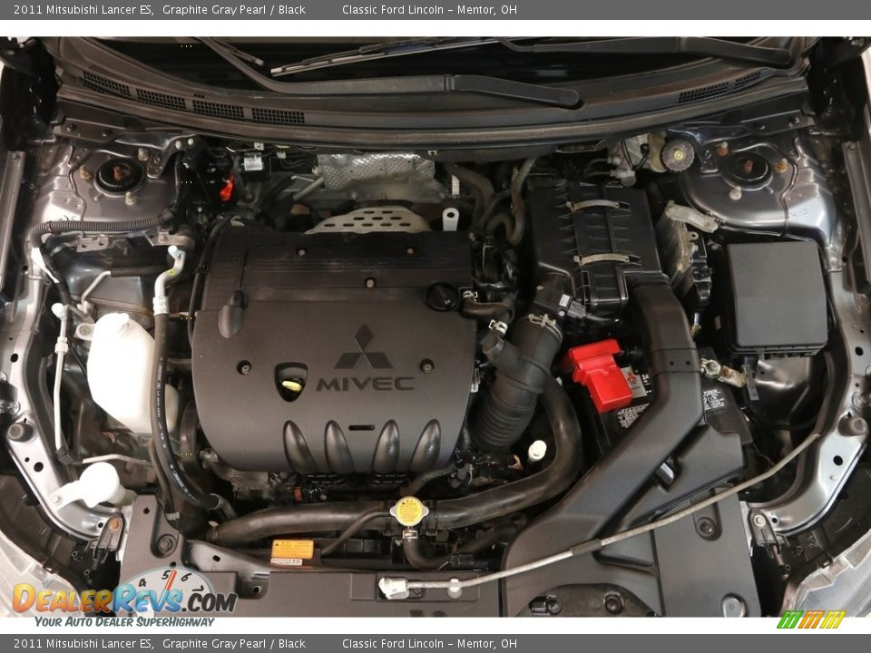 2011 Mitsubishi Lancer ES Graphite Gray Pearl / Black Photo #17