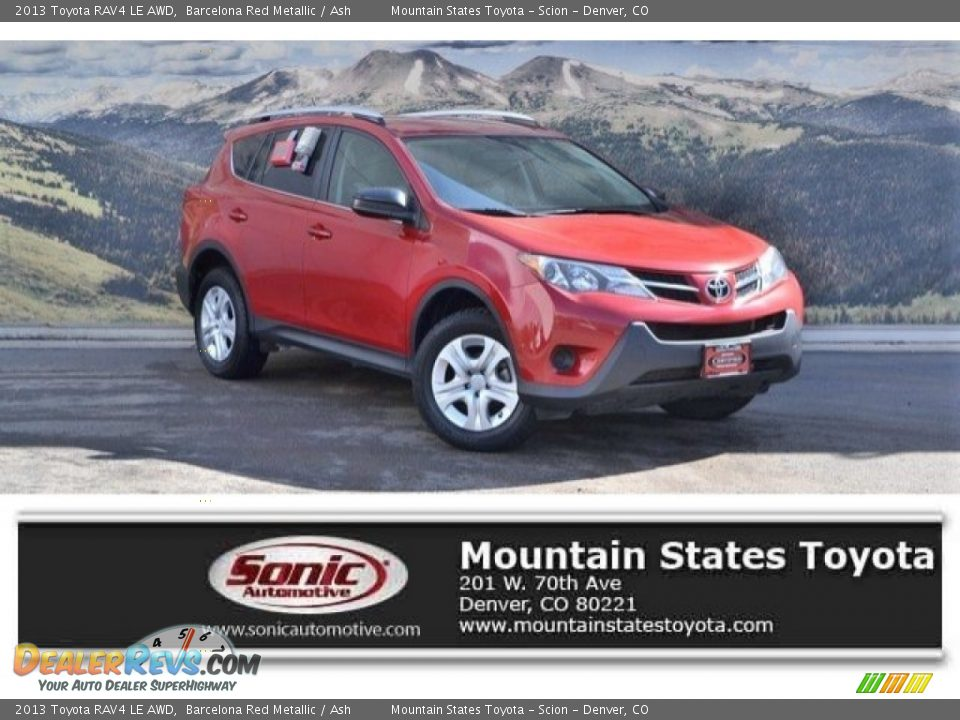 2013 Toyota RAV4 LE AWD Barcelona Red Metallic / Ash Photo #1
