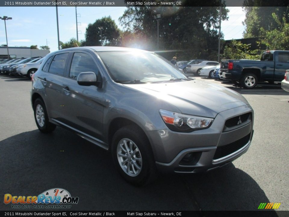 2011 Mitsubishi Outlander Sport ES Cool Silver Metallic / Black Photo #4