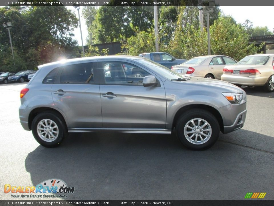 2011 Mitsubishi Outlander Sport ES Cool Silver Metallic / Black Photo #5
