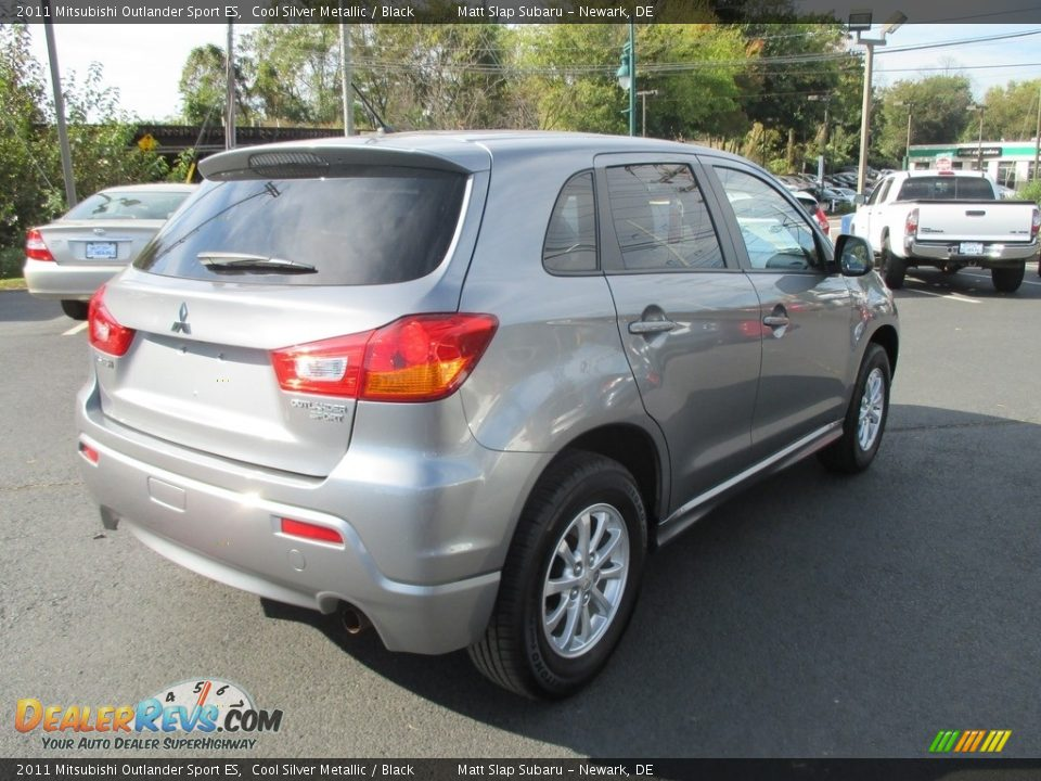 2011 Mitsubishi Outlander Sport ES Cool Silver Metallic / Black Photo #6