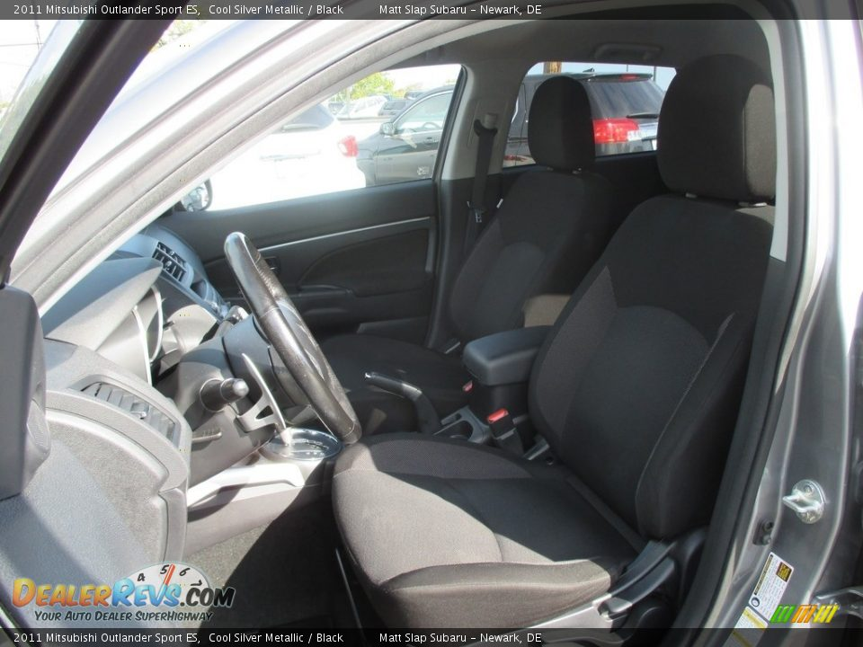 2011 Mitsubishi Outlander Sport ES Cool Silver Metallic / Black Photo #16