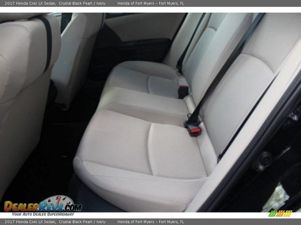 2017 Honda Civic LX Sedan Crystal Black Pearl / Ivory Photo #23