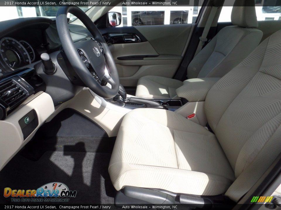 2017 Honda Accord LX Sedan Champagne Frost Pearl / Ivory Photo #11