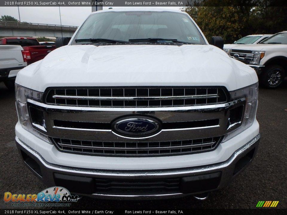 2018 Ford F150 XL SuperCab 4x4 Oxford White / Earth Gray Photo #7