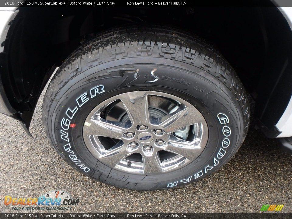 2018 Ford F150 XL SuperCab 4x4 Oxford White / Earth Gray Photo #9