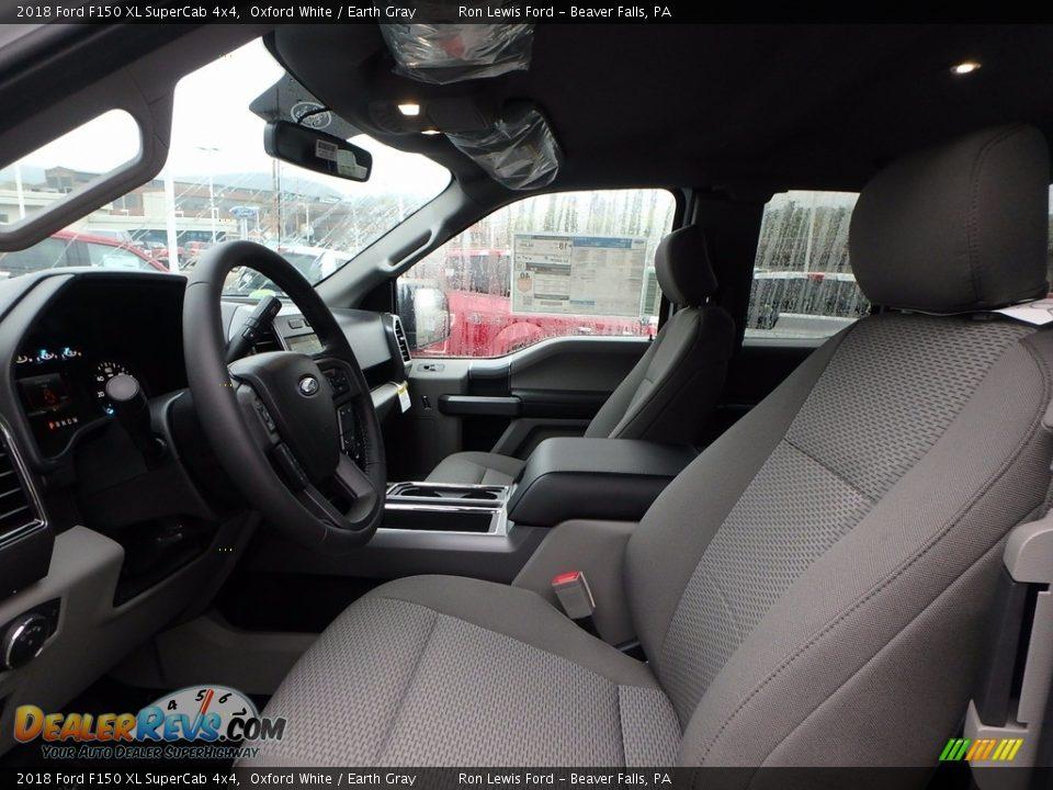 2018 Ford F150 XL SuperCab 4x4 Oxford White / Earth Gray Photo #10