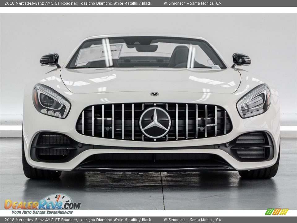 designo Diamond White Metallic 2018 Mercedes-Benz AMG GT Roadster Photo #4