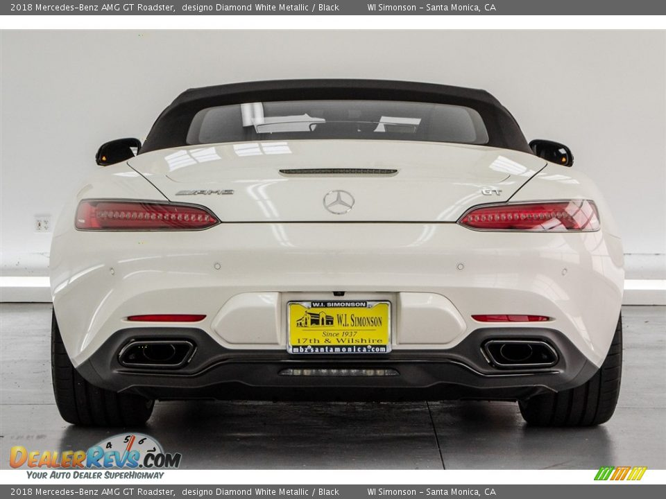 2018 Mercedes-Benz AMG GT Roadster designo Diamond White Metallic / Black Photo #5