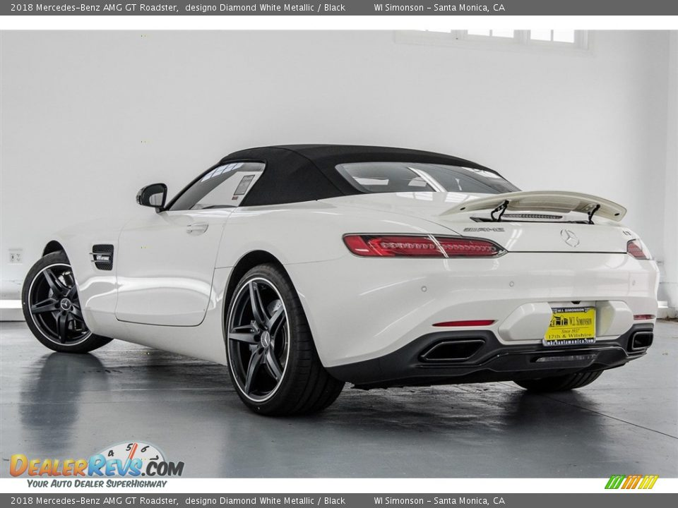 2018 Mercedes-Benz AMG GT Roadster designo Diamond White Metallic / Black Photo #19