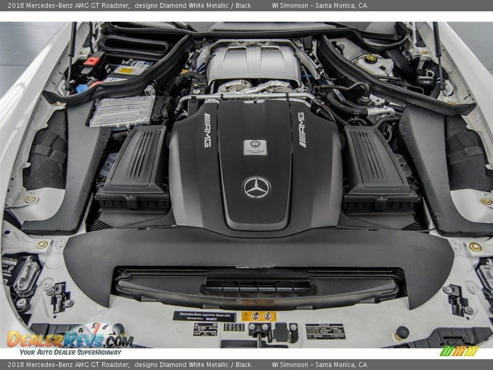 2018 Mercedes-Benz AMG GT Roadster 4.0 Liter AMG Twin-Turbocharged DOHC 32-Valve VVT V8 Engine Photo #20