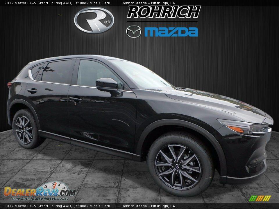 2017 Mazda CX-5 Grand Touring AWD Jet Black Mica / Black Photo #1