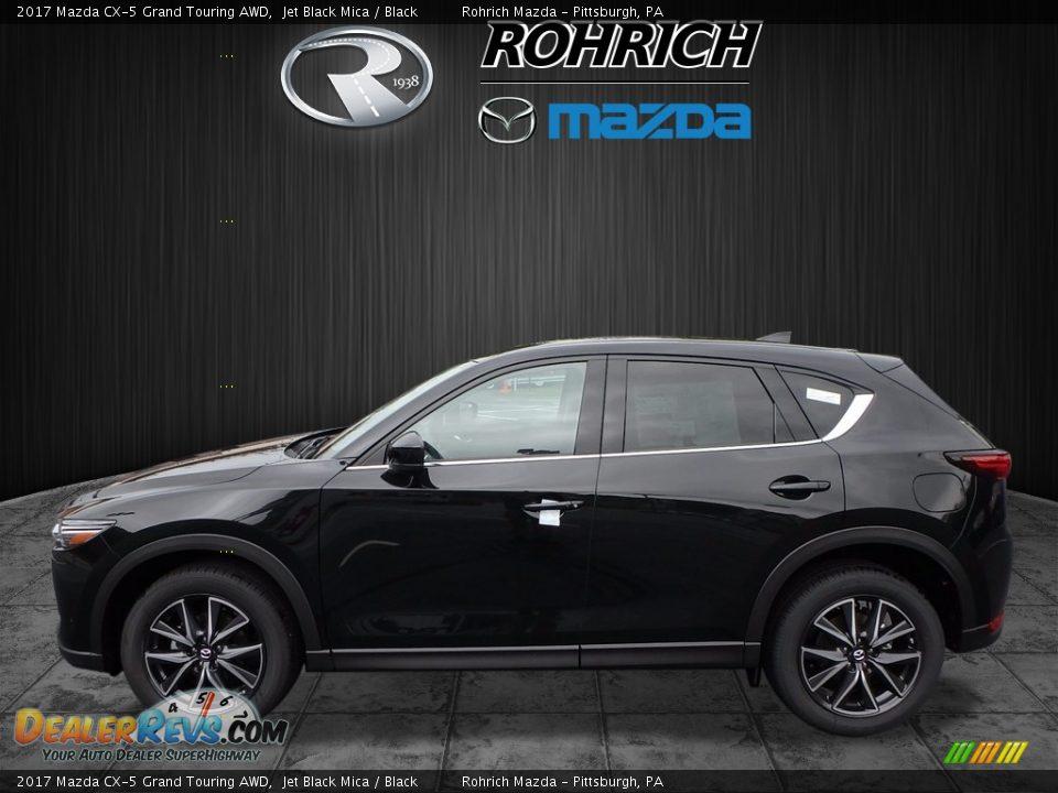 2017 Mazda CX-5 Grand Touring AWD Jet Black Mica / Black Photo #3