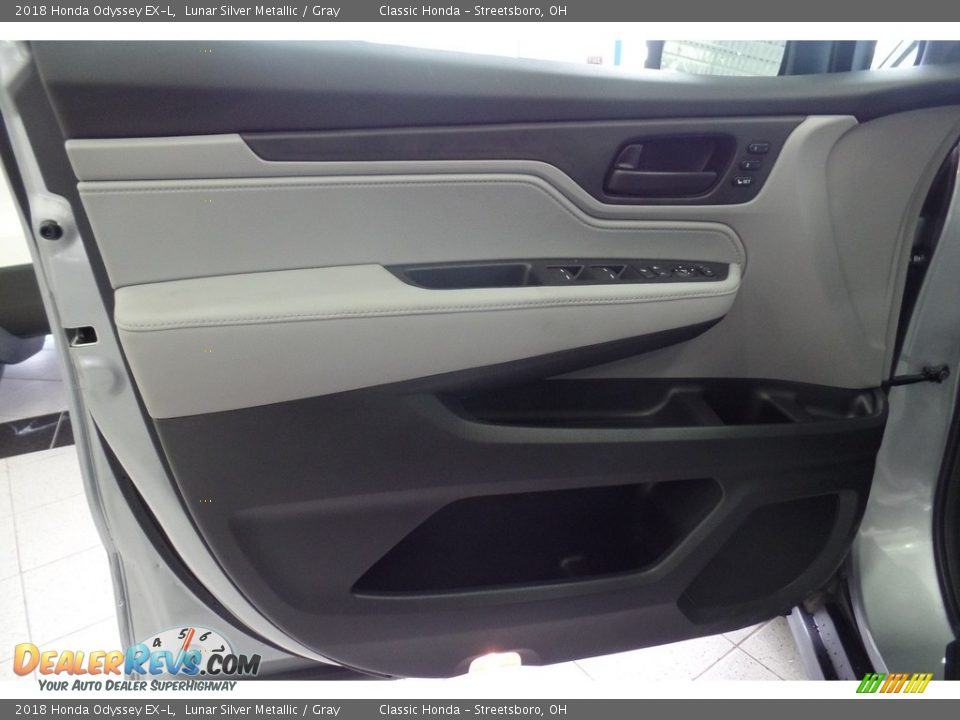 2018 Honda Odyssey EX-L Lunar Silver Metallic / Gray Photo #6