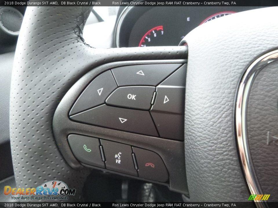 2018 Dodge Durango SXT AWD DB Black Crystal / Black Photo #19