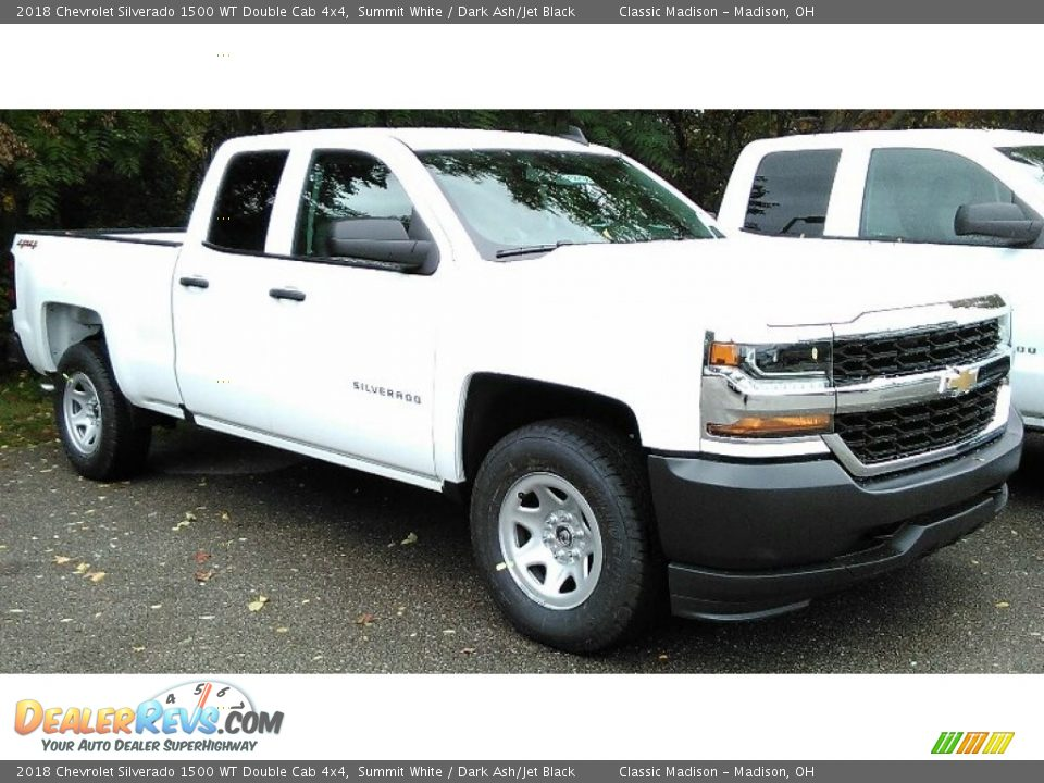 2018 Chevrolet Silverado 1500 WT Double Cab 4x4 Summit White / Dark Ash/Jet Black Photo #2