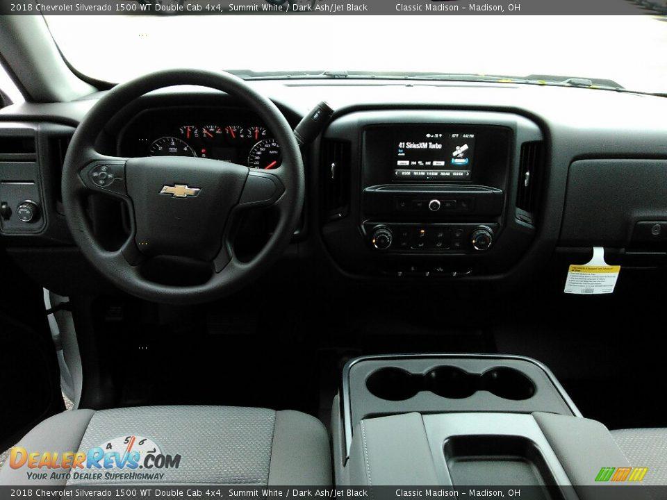 2018 Chevrolet Silverado 1500 WT Double Cab 4x4 Summit White / Dark Ash/Jet Black Photo #7