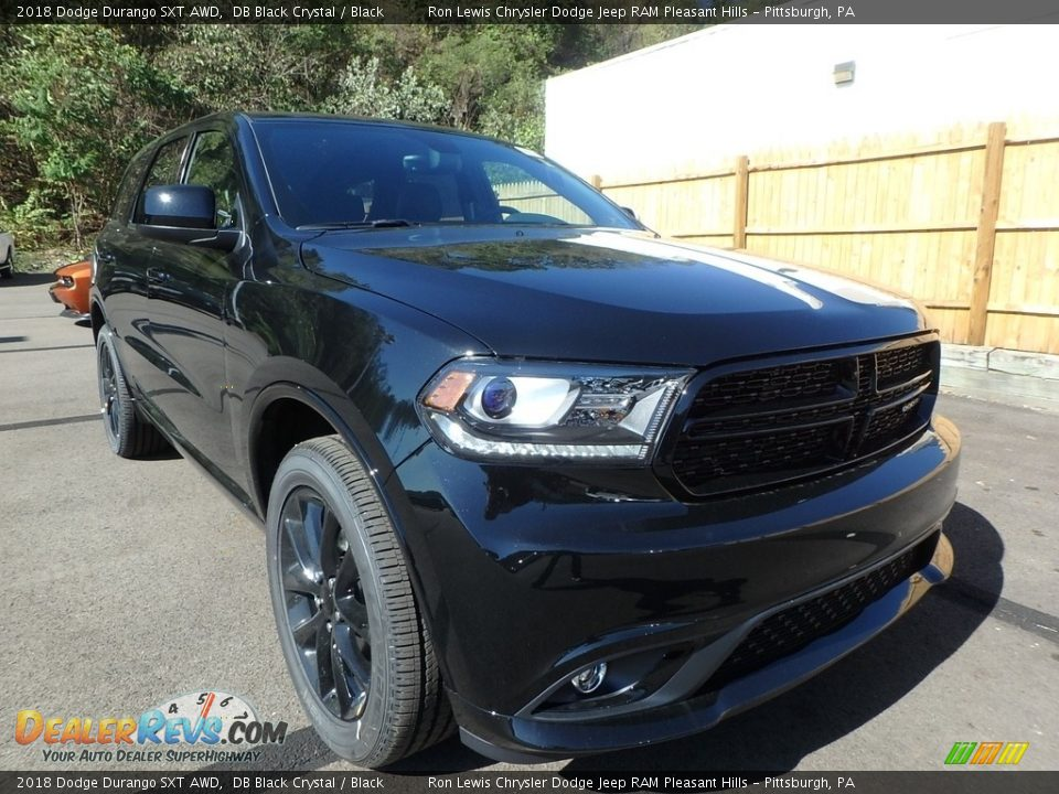 2018 Dodge Durango SXT AWD DB Black Crystal / Black Photo #7