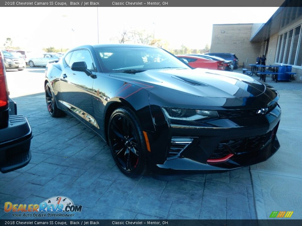 2018 Chevrolet Camaro SS Coupe Black / Jet Black Photo #3
