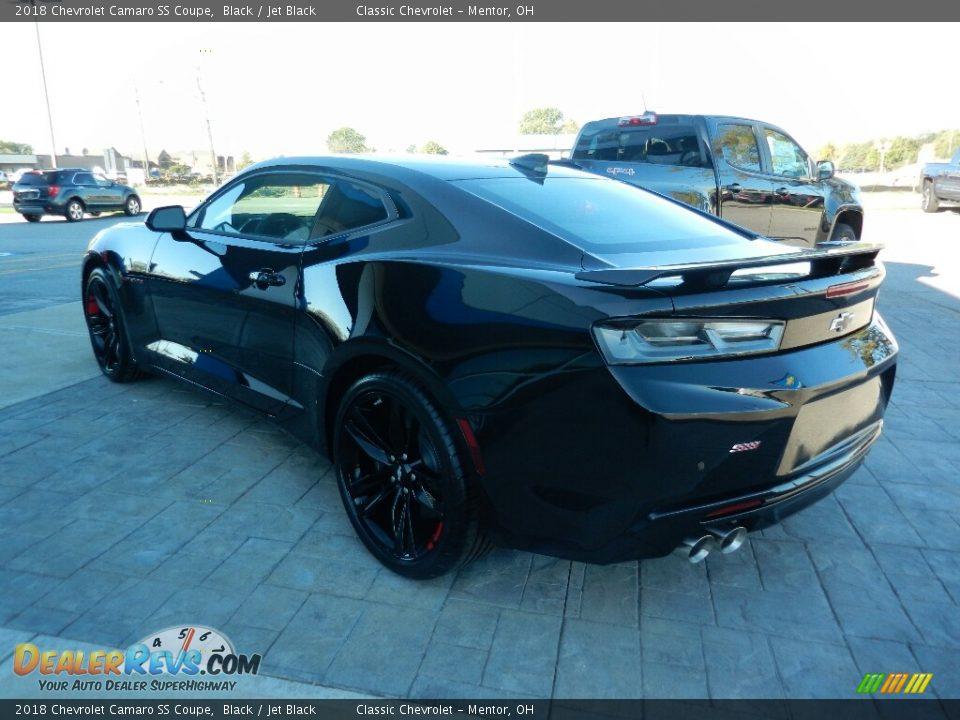 2018 Chevrolet Camaro SS Coupe Black / Jet Black Photo #5