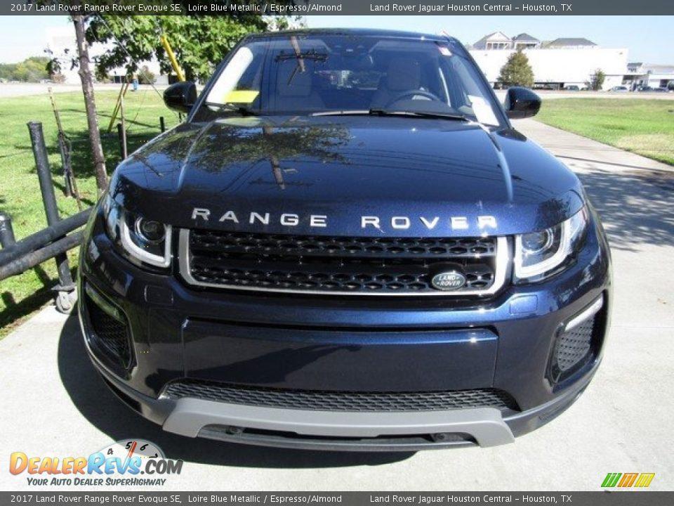 2017 Land Rover Range Rover Evoque SE Loire Blue Metallic / Espresso/Almond Photo #9