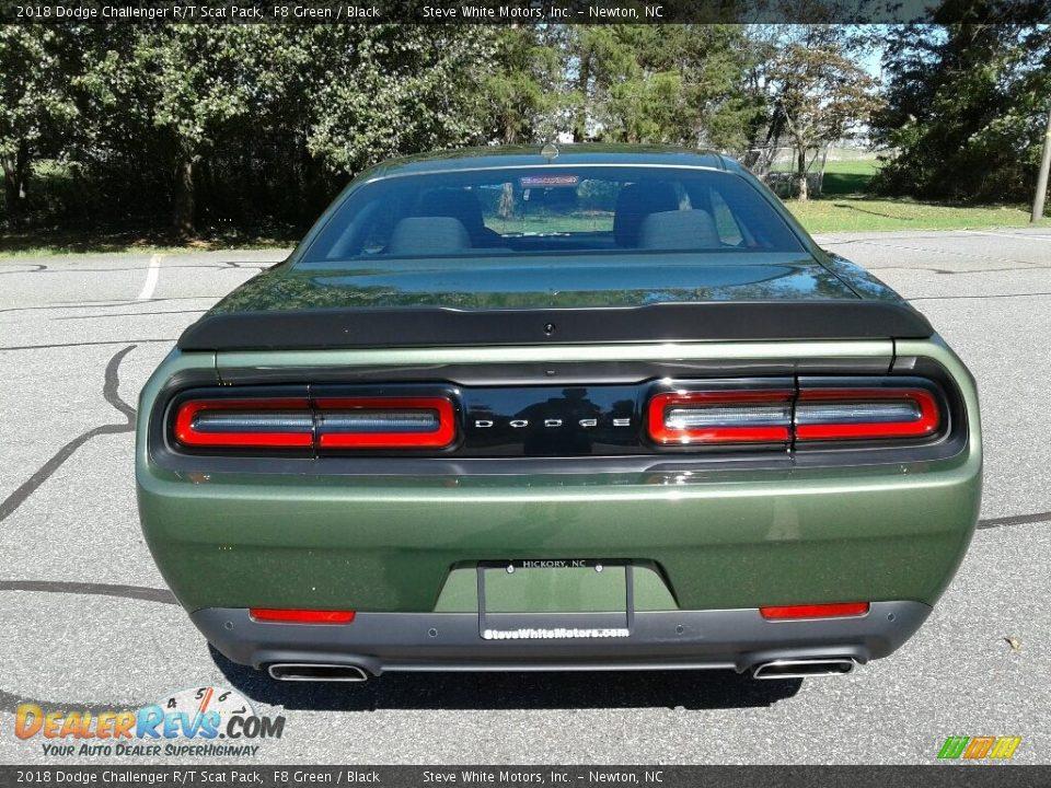2018 Dodge Challenger R/T Scat Pack F8 Green / Black Photo #7