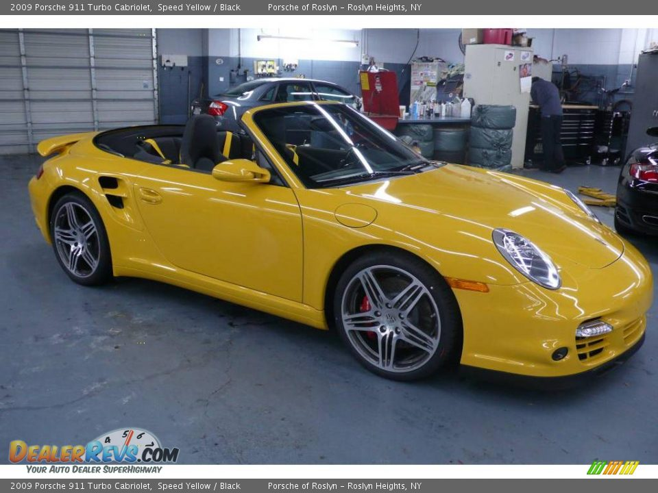 2009 porsche 911 turbo cabriolet speed yellow black. Black Bedroom Furniture Sets. Home Design Ideas