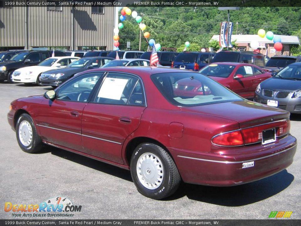 1999 Buick Century Custom Santa Fe Red Pearl Medium Gray Photo 4 Dealerrevs Com