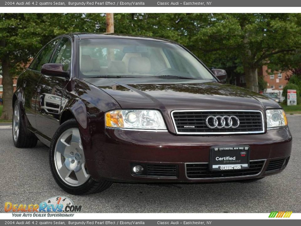 2004 audi a6 4 2 quattro sedan burgundy red pearl effect. Black Bedroom Furniture Sets. Home Design Ideas