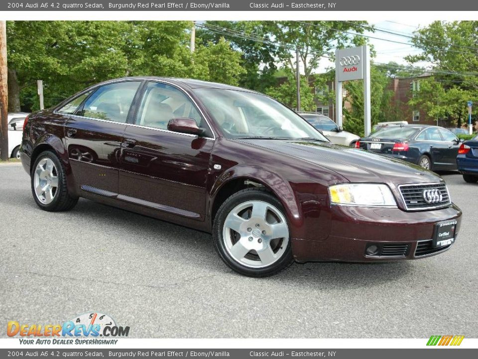 2004 Audi A6 4 2 Quattro Sedan Burgundy Red Pearl Effect