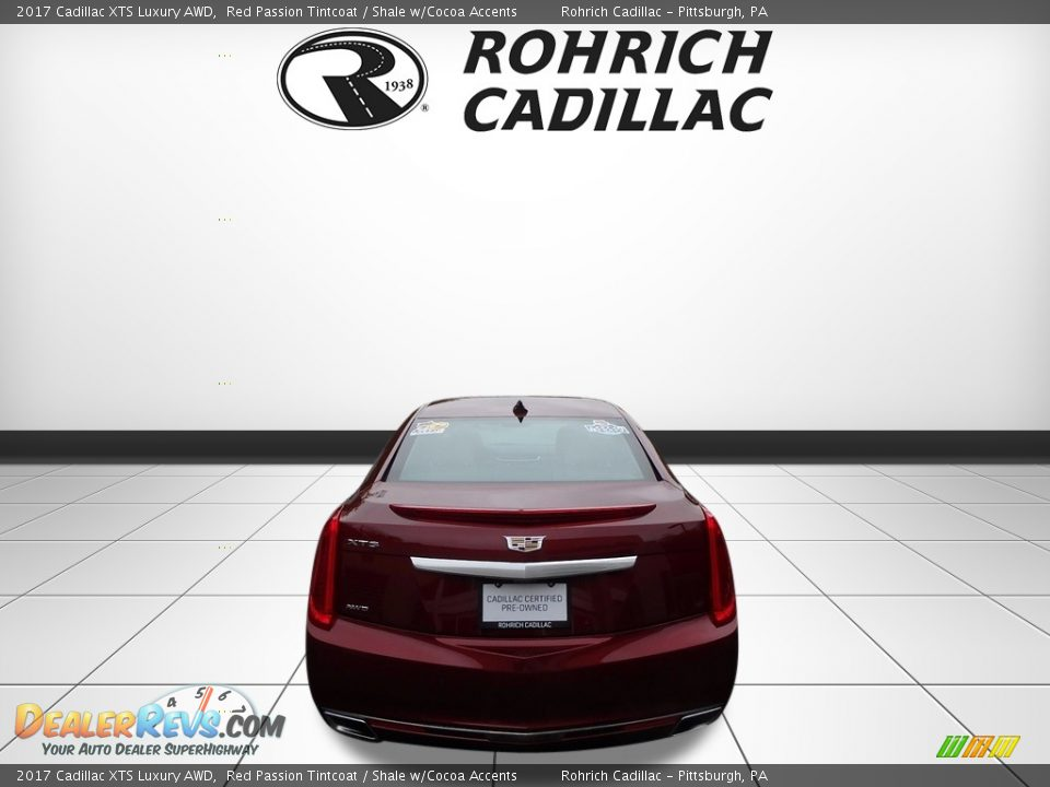 2017 Cadillac XTS Luxury AWD Red Passion Tintcoat / Shale w/Cocoa Accents Photo #4