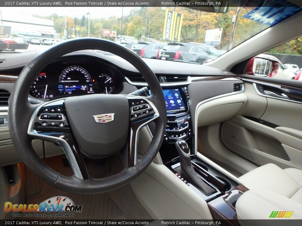 2017 Cadillac XTS Luxury AWD Red Passion Tintcoat / Shale w/Cocoa Accents Photo #16