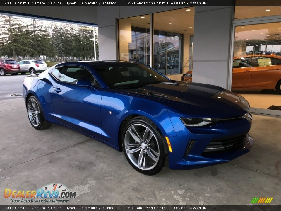 2018 Chevrolet Camaro LS Coupe Hyper Blue Metallic / Jet Black Photo #1