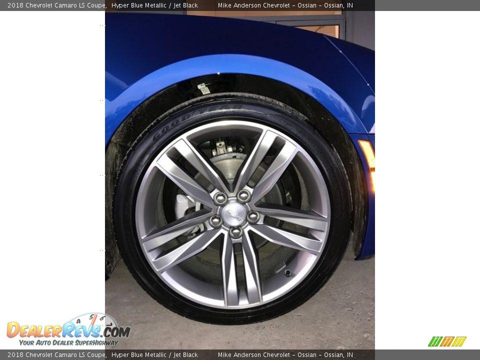 2018 Chevrolet Camaro LS Coupe Hyper Blue Metallic / Jet Black Photo #2