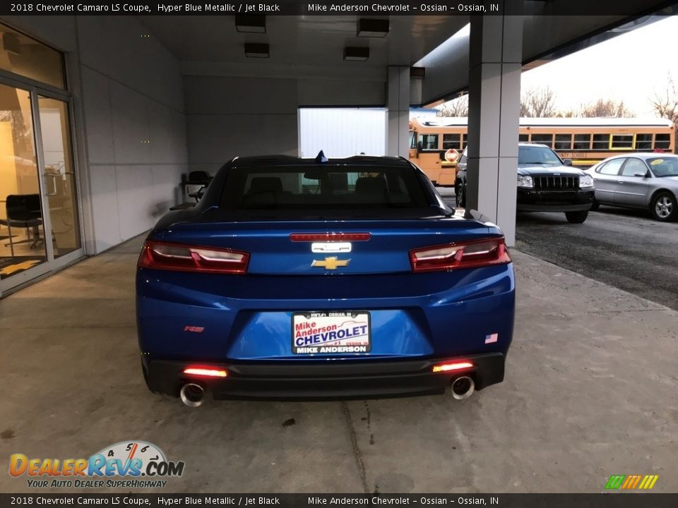 2018 Chevrolet Camaro LS Coupe Hyper Blue Metallic / Jet Black Photo #5