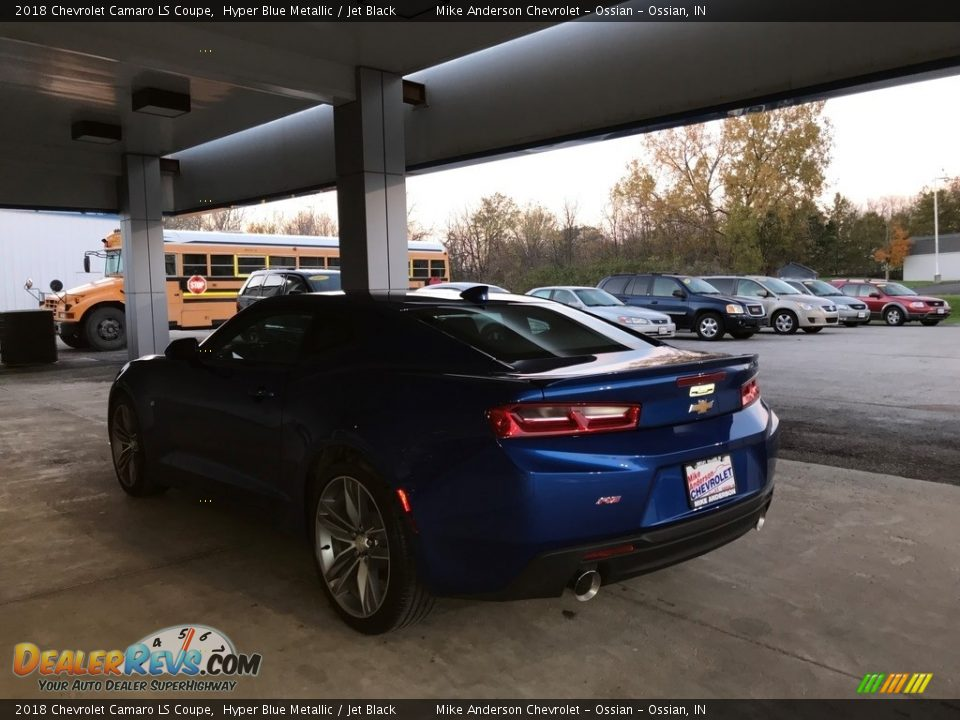 2018 Chevrolet Camaro LS Coupe Hyper Blue Metallic / Jet Black Photo #7