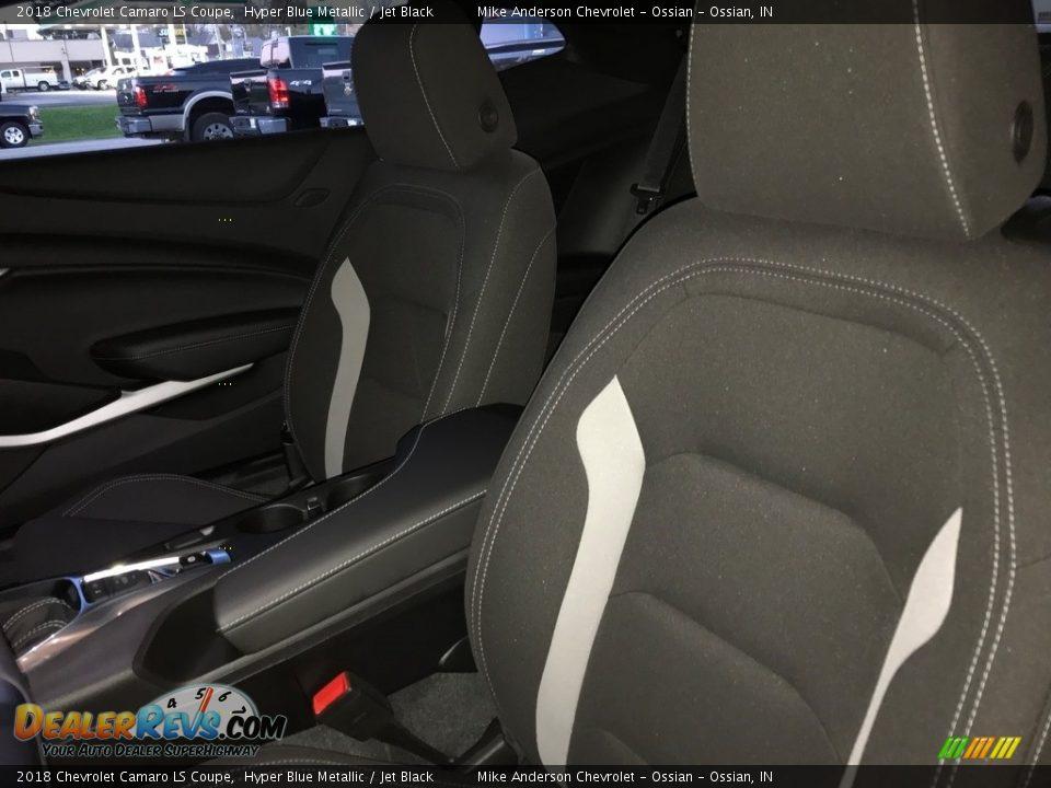 2018 Chevrolet Camaro LS Coupe Hyper Blue Metallic / Jet Black Photo #15