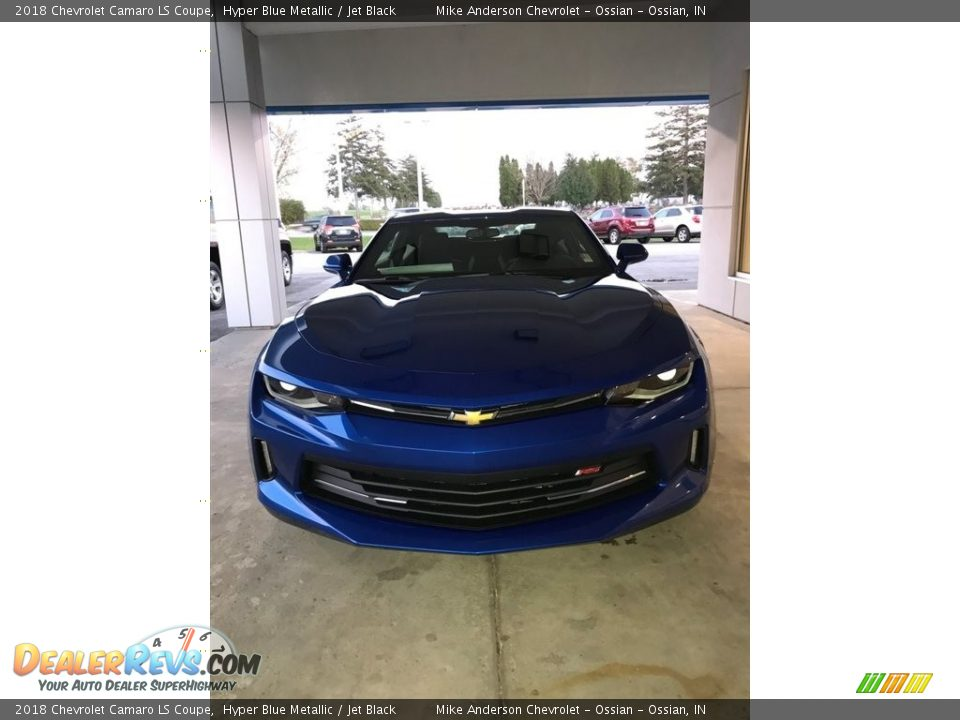 2018 Chevrolet Camaro LS Coupe Hyper Blue Metallic / Jet Black Photo #21