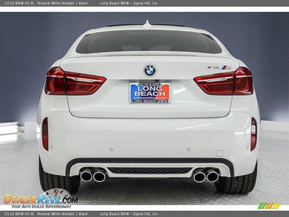 2018 BMW X6 M Mineral White Metallic / Black Photo #3