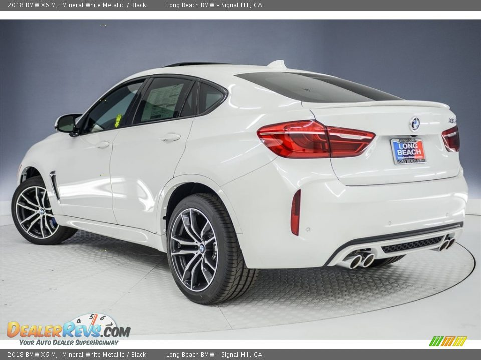 2018 BMW X6 M Mineral White Metallic / Black Photo #4