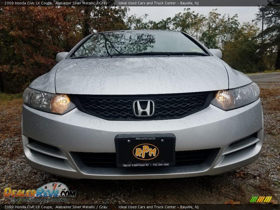 2009 Honda Civic LX Coupe Alabaster Silver Metallic / Gray Photo #2